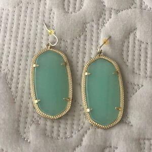 Kendra Scott Danielle earrings in Chalcedony.